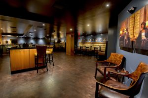 Interior of the Federal Cigar Bar in Dover, NH